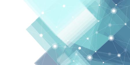Vector de fondo de tecnología futurista azul y blanco