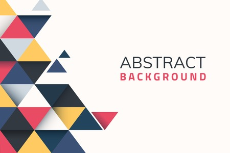 Abstract multicolor geometric background vector Ilustração