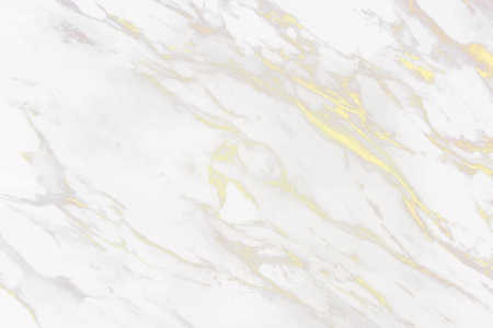 White and gold marble patterned background vector Vettoriali