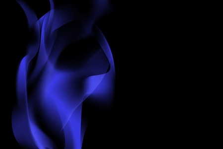 Blue smoke abstract background vector