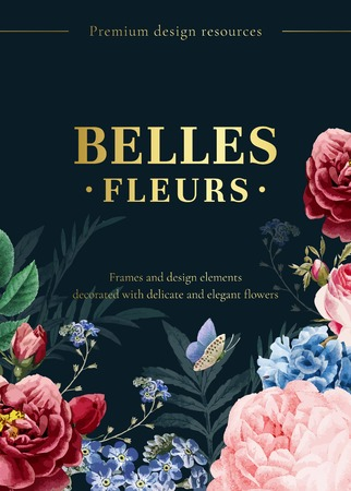 Blooming elegant floral background vector