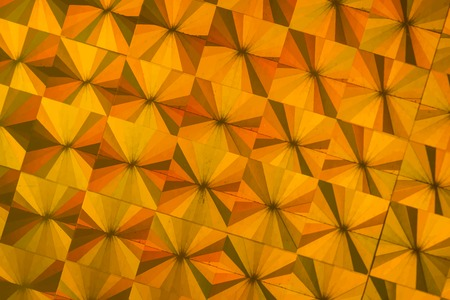 Metallic orange geometric patterned background vector Illustration