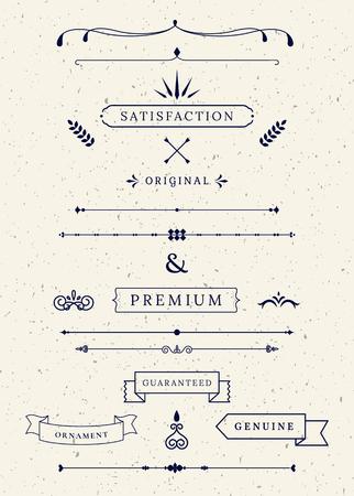 Vintage premium banner collection vectors  イラスト・ベクター素材