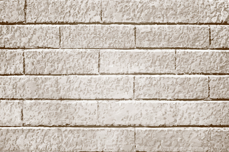 Beige brick textured background vector Ilustração