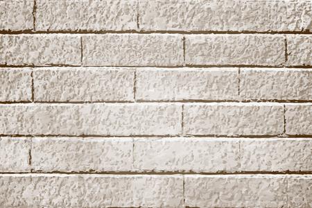 Beige brick textured background vector Illustration