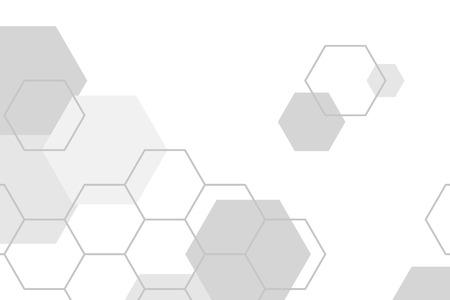 Grijze zeshoek geometrische patroon achtergrond vector