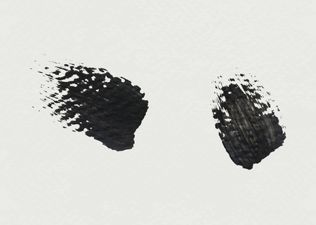 Black acrylic brush stroke vector