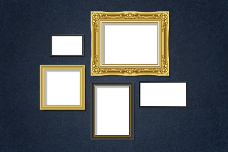 Luxurious frame mockups collection vector
