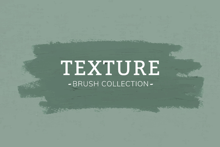 Green oil paint brush stroke texture on a green canvas textured background vector