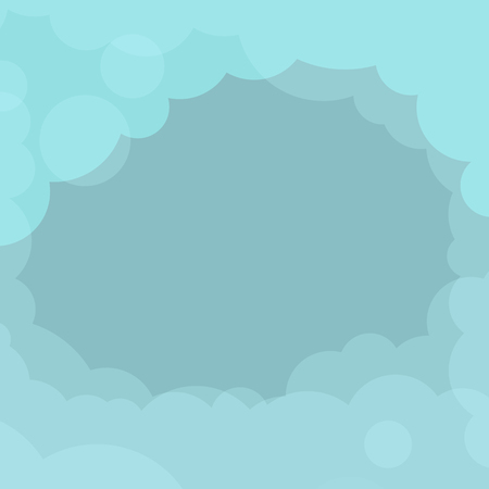 Abstract blue cloudy background vector Stock Illustratie