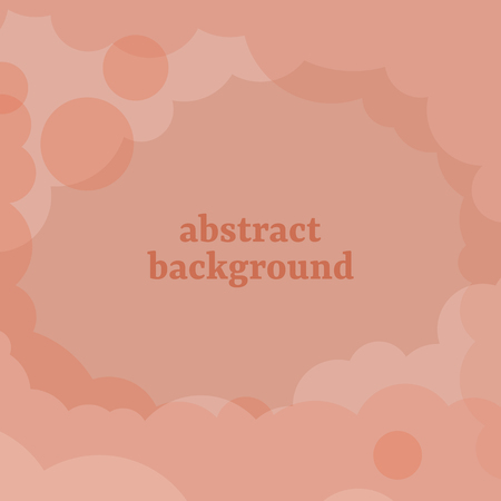 Abstract orange cloudy background vector Stock Illustratie