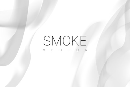 Gray smoke abstract on white background vector Vectores