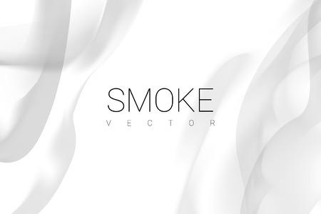 Szary dym streszczenie na białym tle wektor