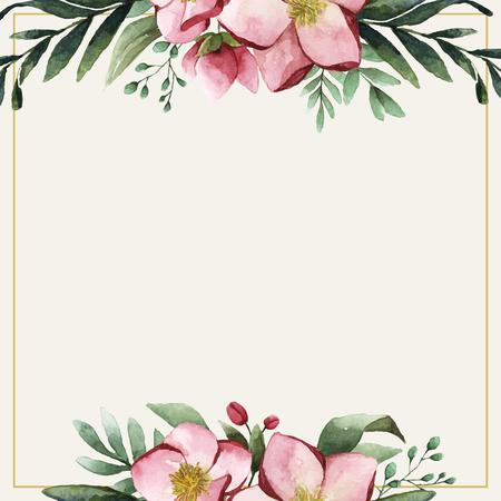 Vecteur de modèle de carte d'invitation de fleurs