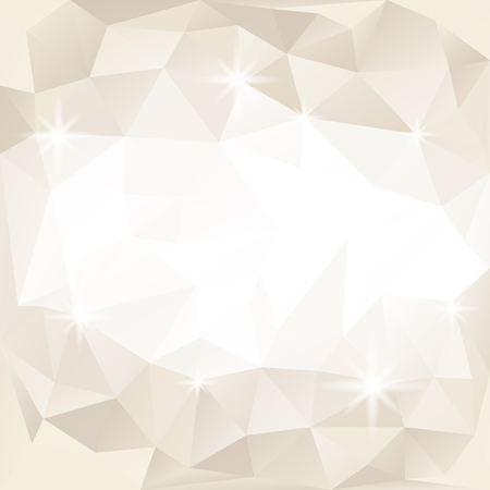 Beige and white crystal textured background
