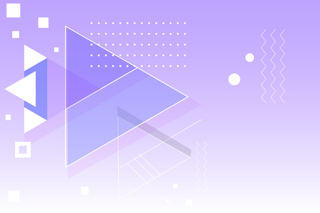 Purple geometric abstract background vector