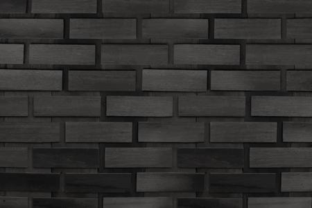 Black brick wall textured background vector Banco de Imagens - 123281801
