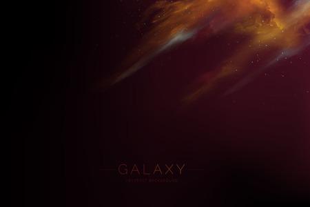 Colorful abstract nebula space background vector Ilustração