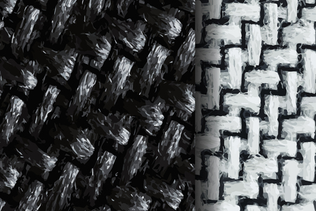 Woolen texture sample vectors collection