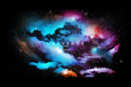Colorful abstract universe textured background vector Ilustração