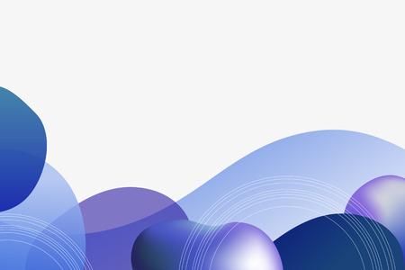 Blue modern gradient background vector