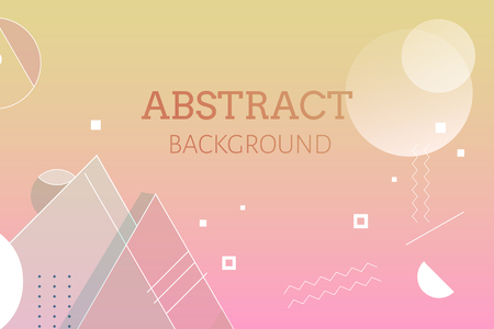 Gradient geometric abstract background vector Çizim