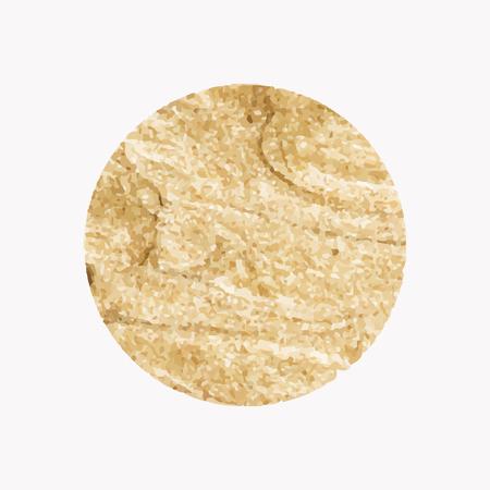 Round shimmery gold badge vector Illustration