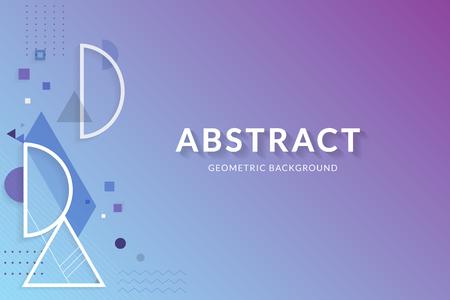 Purple blue abstract geometric background vector Standard-Bild - 121111805