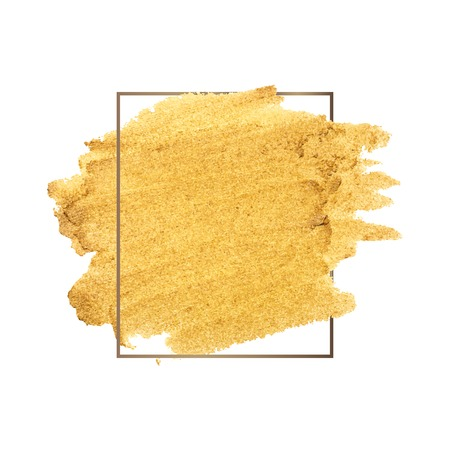 Golden shimmery brush stroke badge vector  イラスト・ベクター素材