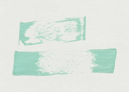 Green acrylic brush stroke vector Illustration