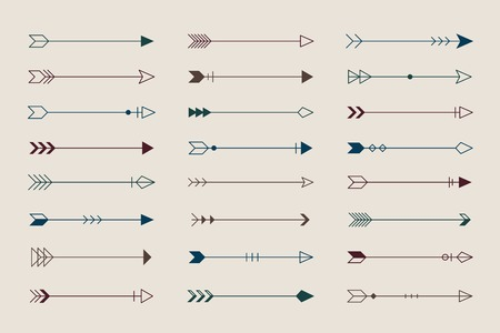 Arrow design element on a biege cream background vector