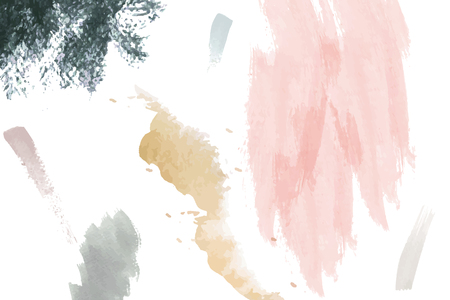 Pastel paintbrush stroke textured on a white background vector