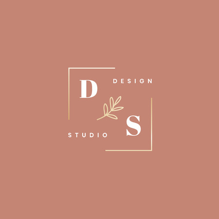 Design studio minimal logo vector