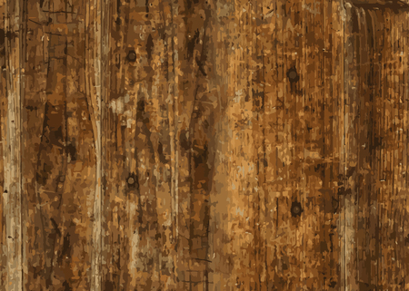 Brown wooden textured background vector  イラスト・ベクター素材
