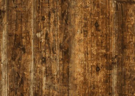 Brown wooden textured background vector Illusztráció