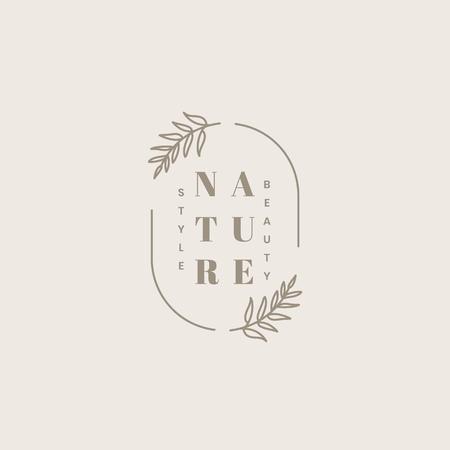 Vecteur de conception de logo de produit de beauté bio