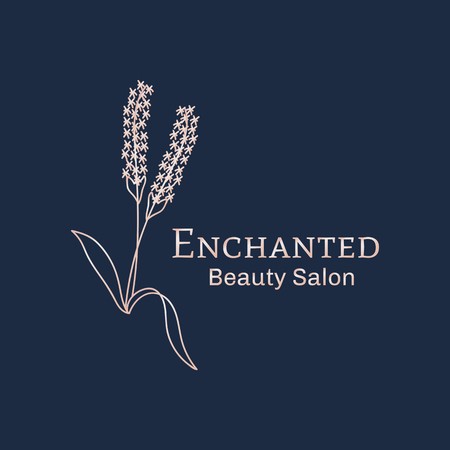 Enchanted beauty salon logo vector Illustration