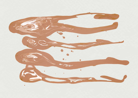 Brown acrylic brush stroke vector
