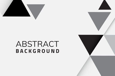 Abstract black and white geometric background vector Illustration