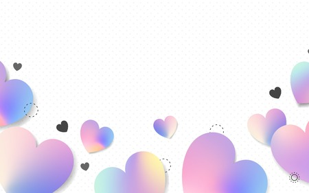 Pastel hearts background design vector 스톡 콘텐츠 - 123281951