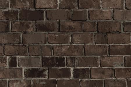 Dark brown brick textured background vector