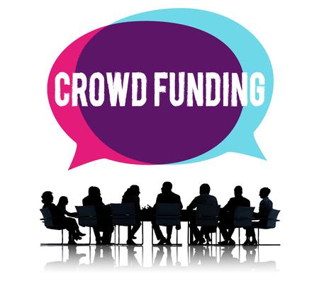 Business crowdfunding Reklamní fotografie