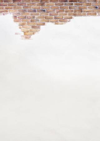 Brown brick wall textured background 版權商用圖片