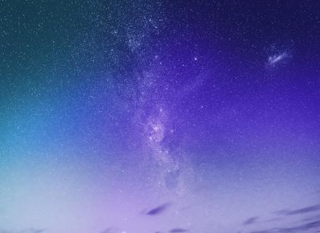 Purple starry night sky background