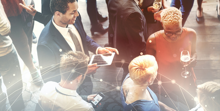 Diverse business people at an office party Foto de archivo