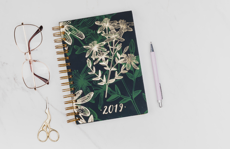 2019  floral book cover set Archivio Fotografico