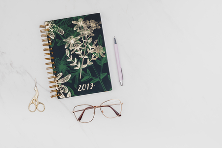 Floral journal with stationery