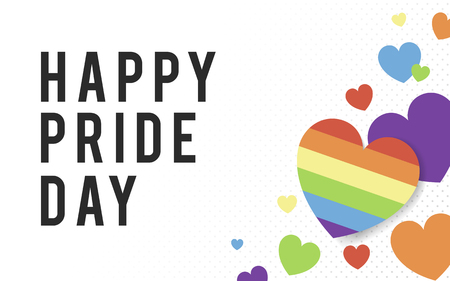 Happy pride day background, vector illustration