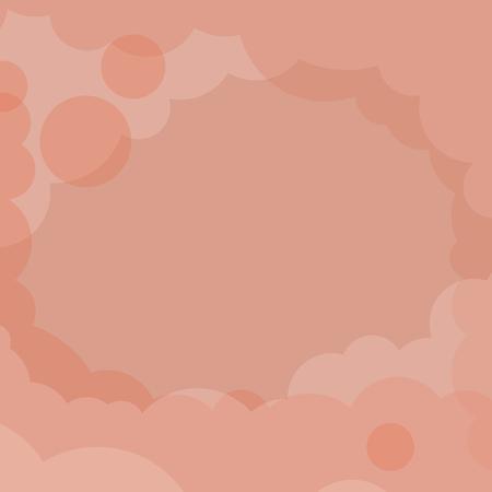 Abstracte oranje bewolkte achtergrond vector Vector Illustratie