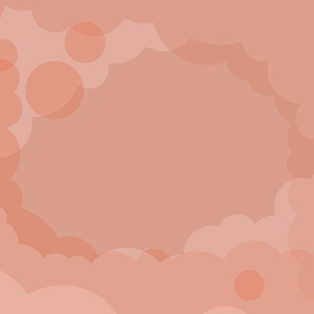 Abstract orange cloudy background vector Illustration